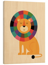 Wood print  Mr Confidence - Andy Westface