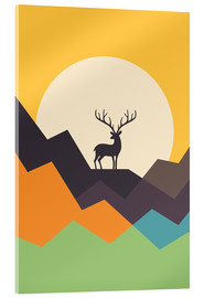 Acrylic print  Deer - Andy Westface