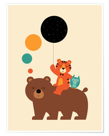 Premium poster  The little explorers - Andy Westface