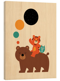 Wood print  The little explorers - Andy Westface