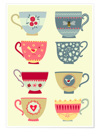 Premium poster  Pretty teacups - Nic Squirrell