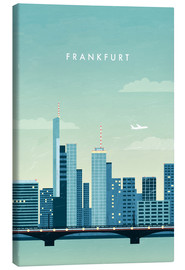 Canvas print  Illustration of Frankfurt - Katinka Reinke