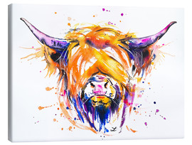 Canvas print  Scottish Highland Cow - Zaira Dzhaubaeva