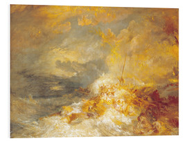 Foam board print  Fire at sea - Joseph Mallord William Turner