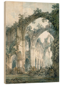 Wood print  Interior of Tintern Abbey in Monmouthshire - Joseph Mallord William Turner