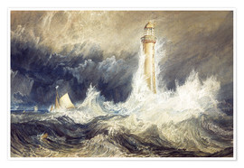 Premium poster  Bell Rock Lighthouse - Joseph Mallord William Turner