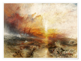 Premium poster  The slave ship - Joseph Mallord William Turner