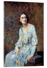Acrylic print  Portrait of a Lady - Albert Henry Collings