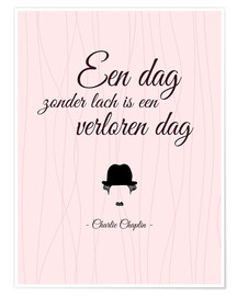 Premium poster A day without laughter - Dutch