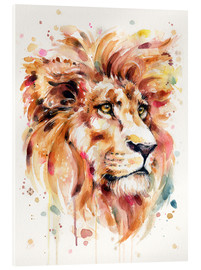 Acrylic print  All Things Majestic (Lion) - Sillier Than Sally