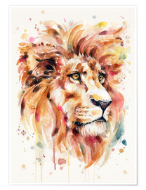 Premium poster  All Things Majestic (Lion) - Sillier Than Sally