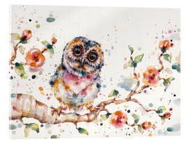 Acrylic print  Yep Cute Is My Middle Name (baby Owl) - Sillier Than Sally