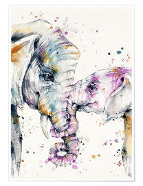 Premium poster  That type of love (elephants) - Sillier Than Sally