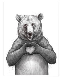 Premium poster Bear with heart