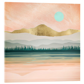 Acrylic print  Spring Forest Lake - SpaceFrog Designs