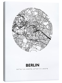 Canvas print  City map of Berlin - 44spaces