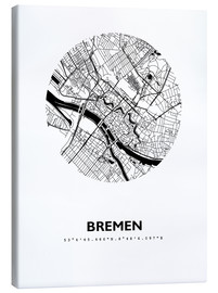 Canvas print  City map of Bremen - 44spaces