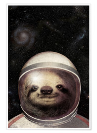 Premium poster  Space Sloth - Eric Fan