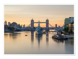 Premium poster  Colourful sunrises in London - Mike Clegg Photography
