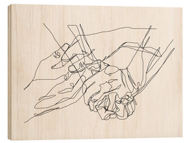 Wood print  Caress and Crush - Sophie Schultz