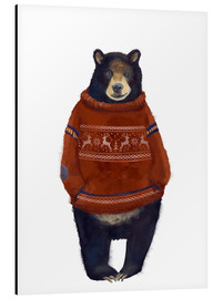 Aluminium print  Mr. Bearr in Norwegian sweater - Kidz Collection