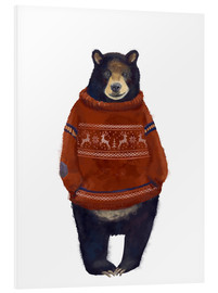 Foam board print  Mr. Bearr in Norwegian sweater - Kidz Collection