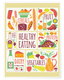 Premium poster To eat healthy food