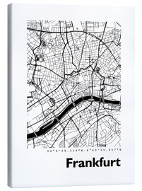 Canvas print  City map of Frankfurt - 44spaces