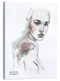 Canvas print  Flower tattoo - Teetonka
