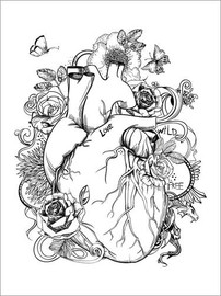 Colouring poster  Heart