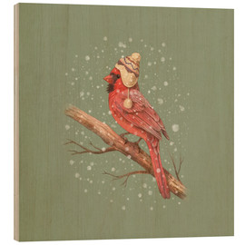 Wood print  First snow - Terry Fan