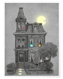 Premium poster  Haunted house - Terry Fan