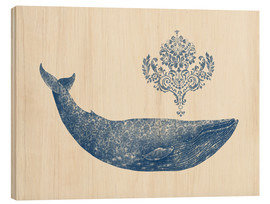 Wood print  A whale from Damask - Terry Fan
