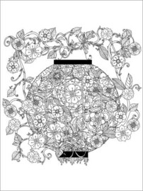 Colouring poster  Chinese lantern