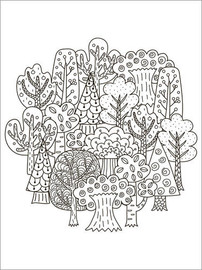 Colouring poster  Small grove