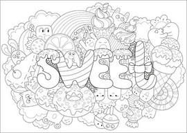 Colouring poster  Sweet