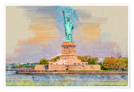 Premium poster New York Statue of Liberty