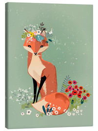 Canvas print  Fox in the Spring - Eve Farb