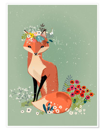 Premium poster  Fox in the Spring - Eve Farb