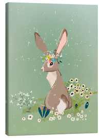 Canvas print  Rabbit with wildflowers - Eve Farb