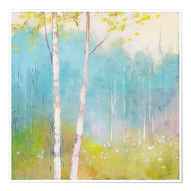 Premium poster Young trees in the spring I