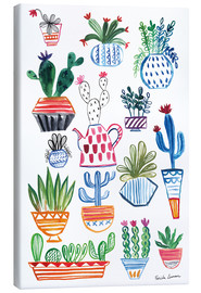 Canvas print  Funky Cactus Collage I - Farida Zaman