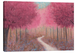 Canvas print  Forest path in spring - James Wiens