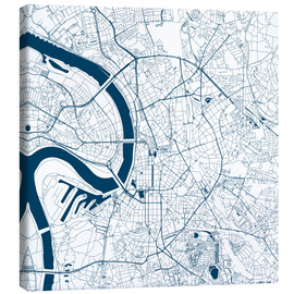Canvas print  City map of Dusseldorf - 44spaces
