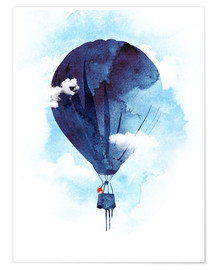 Premium poster  Fox flies away - Robert Farkas