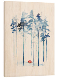 Wood print  Sleeping in the woods - Robert Farkas