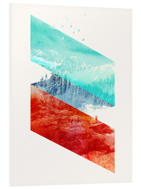 Foam board print  Mountain Stripes - Robert Farkas