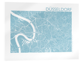 Acrylic print  City map of Dusseldorf - 44spaces