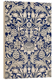 Wood print  Sunflower - William Morris