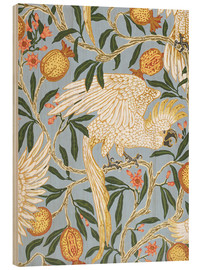 Wood print  Cockatoo and Pomegranate - Walter Crane